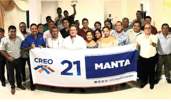 El puerto de Manta recibe al equipo de CREO y posesiona su nueva directiva cantonal
