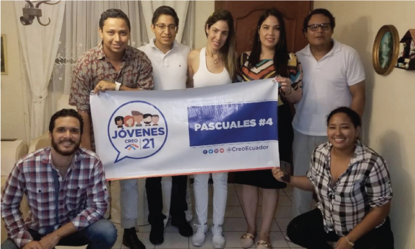 Jóvenes CREO se fortalece y posesiona directiva territorial en Pascuales