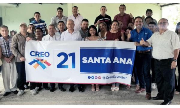 Santa Ana posesiona a su nueva directiva cantonal de CREO y fortalece su estructura territorial