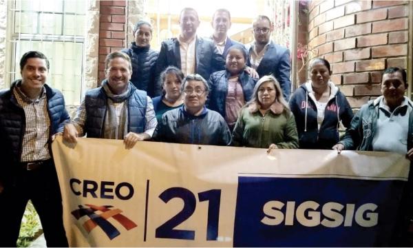 Desde Sígsig continúa el fortalecimiento territorial de CREO en la Provincia de Azuay