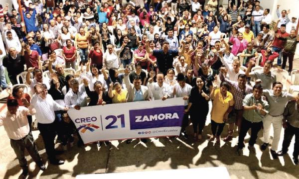 CREO Zamora se fortalece y posesiona a su nueva directiva cantonal