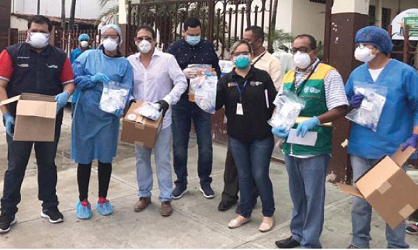 En Babahoyo CREO agradece a Guillermo Lasso y #SalvarVidasEC por la entrega de respiradores