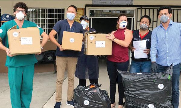 CREO Durán agradece a Guillermo Lasso y #SalvarVidasEC por la entrega de insumos médicos
