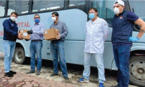 En la Troncal CREO agradece a Guillermo Lasso y SalvarVidasEC por la entrega de respiradores