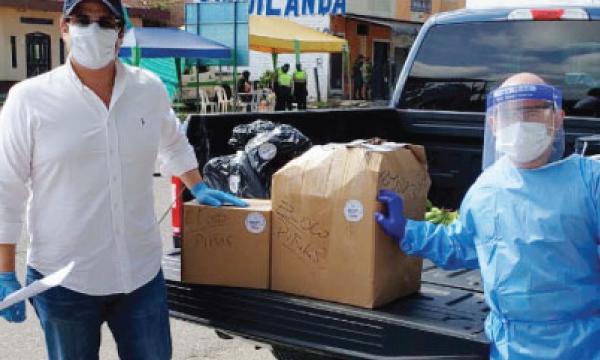 CREO Piñas agradece a Guillermo Lasso y #SalvarVidasEc por donación de insumos médicos
