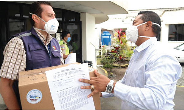 CREO Santo Domingo agradece a Guillermo Lasso y #SalvarVidasEc por la donación de insumos médicos en Los Rosales