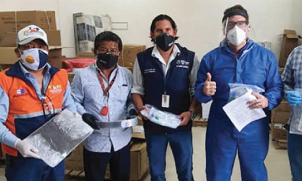 CREO Playas agradece a Guillermo Lasso y #SalvarVidasEc por la segunda donación de respiradores e insumos médicos