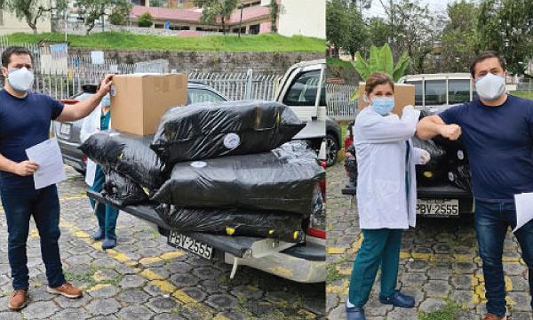 CREO Quito agradece a Guillermo Lasso y #SalvarVidasEC por la donación de insumos médicos