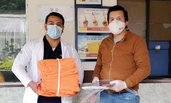 CREO Santiago de Méndez agradece a Guillermo Lasso y #SalvarVidasEC por la donación de insumos médicos