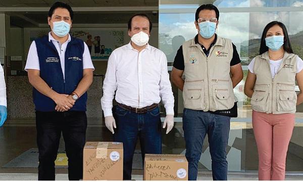 En Yantzaza CREO agradece a Guillermo Lasso y #SalvarVidasEc por la donación de respiradores e insumos médicos