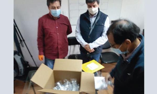 En Antonio Ante CREO agradece a Guillermo Lasso y #SalvarVidasEC por la donación de insumos médicos