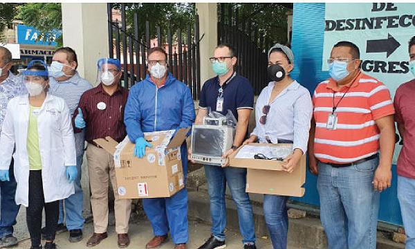 CREO Jipijapa agradece a Guillermo Lasso y  #SalvarVidasEC por la donación de monitor cardiaco