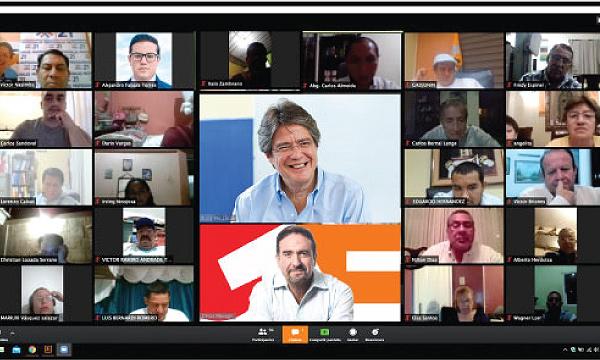 Guillermo Lasso y la estructura de CREO Manabí se reúnen para analizar y fortalecer acciones humanitarias