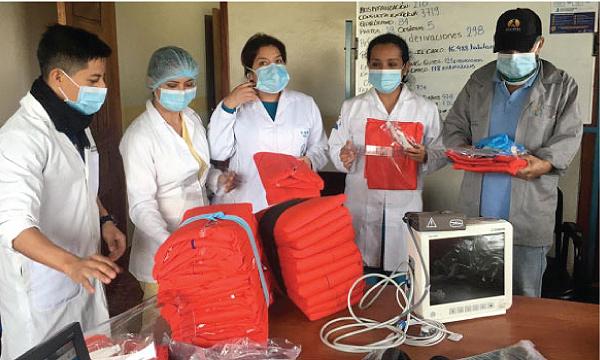 En Tena CREO agradece a Guillermo Lasso y #SalvarVidasEC por la donación de respiradores e insumos médicos