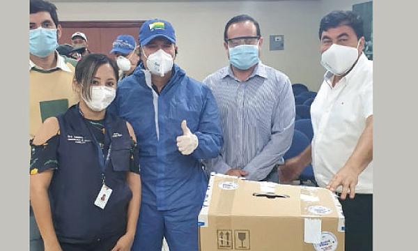 CREO La Troncal agradece a Guillermo Lasso y #SalvarVidasEC por la donación de monitor cardíaco