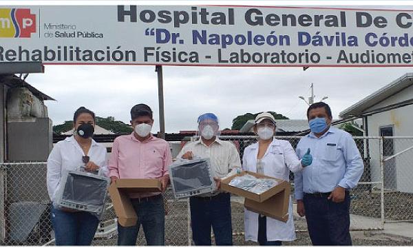 En Chone CREO agradece a Guillermo Lasso y #SalvarVidasEC por la donación de monitor cardíaco