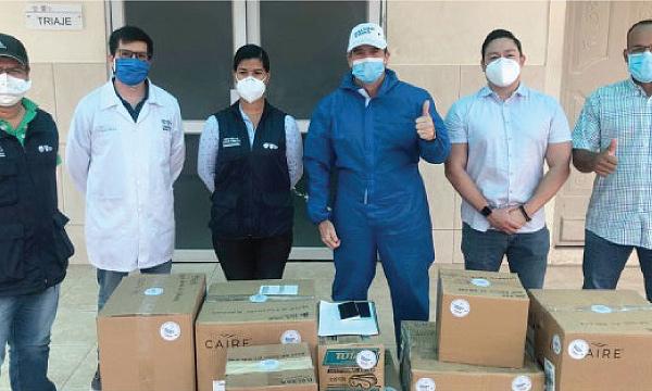 CREO Balzar agradece a Guillermo Lasso y #SalvarVidasEC por la segunda donación de respiradores e insumos médicos