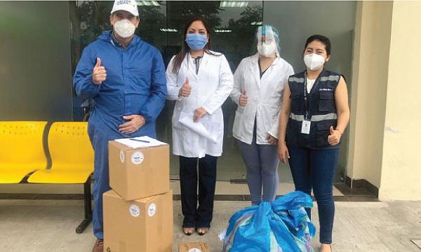 CREO Bucay agradece a Guillermo Lasso y #SalvarVidasEC por la donación de insumos médicos