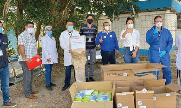 CREO Manta agradece a Guillermo Lasso y #SalvarVidasEC por equipos e insumos médicos