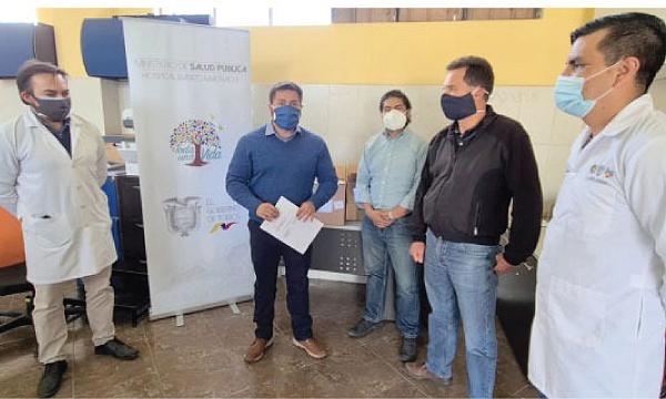 CREO Mejía agradece a Guillermo Lasso y #SalvarVidasEC por donación de equipos e insumos médicos