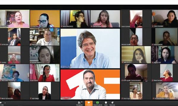 Guillermo Lasso se reúne con líderes mujeres para planificar el futuro del Ecuador