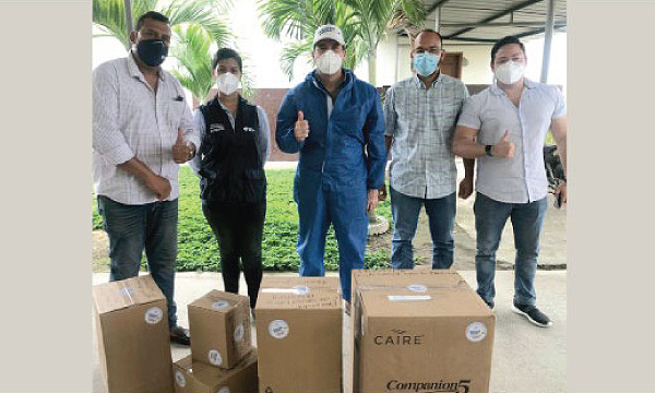 CREO Palestina agradece a Guillermo Lasso y #SalvarVidasEC por la donación de ventiladores mecánicos e insumos médicos.