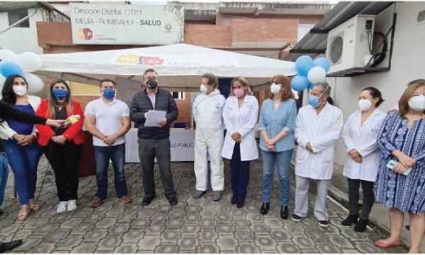 La iniciativa #SalvarVidasEC entregó equipos médicos al Hospital de Rumiñahui en Pichincha