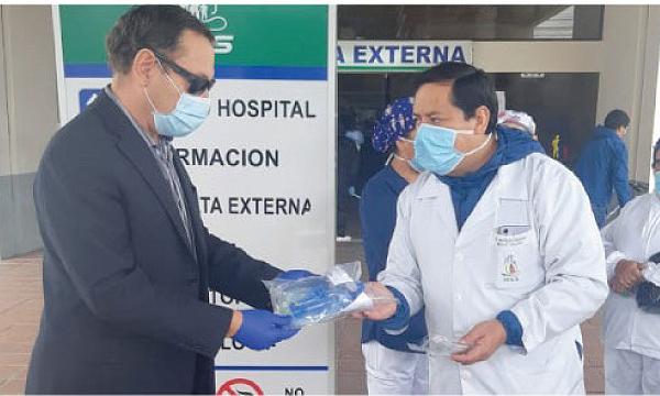 En Salcedo CREO agradece a Guillermo Lasso y #SalvarVidasEC por la donación de respiradores e insumos médicos