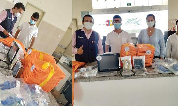 En San Cristóbal CREO agradece a Guillermo Lasso y #SalvarVidasEC por la donación de respiradores e insumos médicos