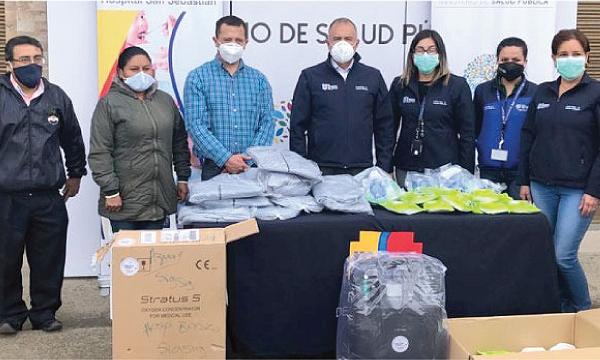Guillermo Lasso y #SalvarVidasEC realizan segunda entrega de equipos en Sigsig