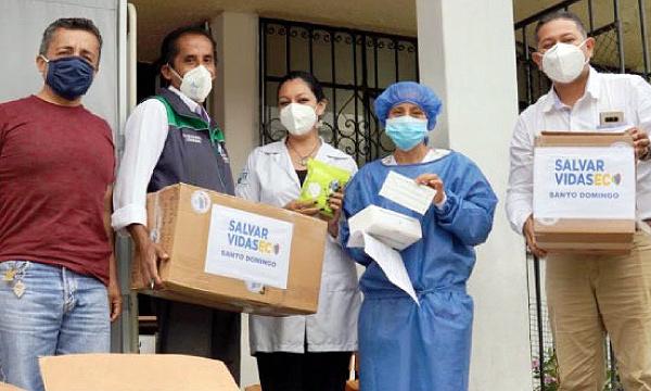 Allaurín agradece a Guillermo Lasso y #SalvarVidasEC por la donación de insumos médicos