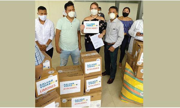 CREO Atacames agradece a Guillermo Lasso y #SalvarVidasEC por la donación de insumos médicos