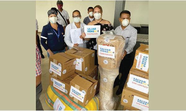 CREO Esmeraldas agradece a Guillermo Lasso y #SalvarVidasEC por la donación de respiradores e insumos médicos