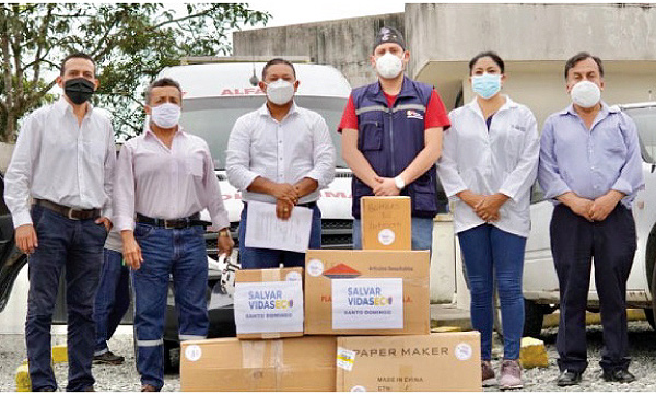 CREO Los Rosales agradece a Guillermo Lasso y #SalvarVidasEC por la donación de respiradores e insumos médicos