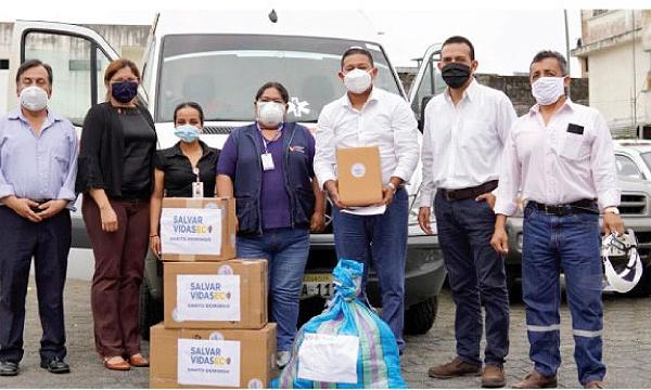 Desde el cantón Santo Domingo CREO agradece a Guillermo Lasso y #SalvarVidasEC por la donación de insumos médicos