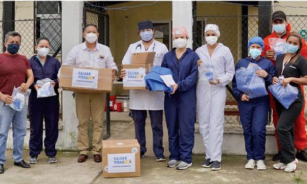En Santo Domingo CREO agradece a Guillermo Lasso y #SalvarVidasEC por la donación de insumos médicos