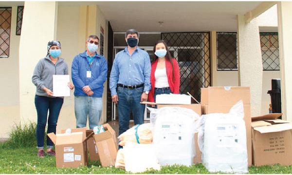 En Cotacachi CREO agradece a Guillermo Lasso y #SalvarVidasEC por la donación de insumos médicos