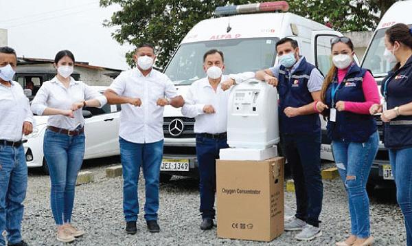 Los Rosales agradecen a Guillermo Lasso por donación de insumos médicos