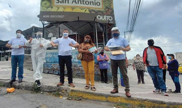 Comerciantes agradecen a Guillermo Lasso y #SalvarVidasEC por la donación de equipos de protección