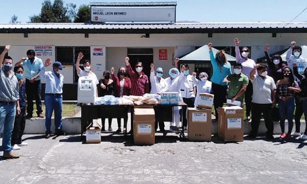 En Chunchi CREO agradece a Guillermo Lasso y #SalvarVidasEC por la donación de insumos médicos
