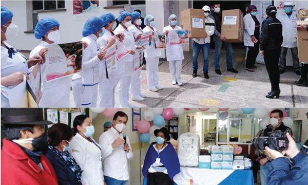 En Guamote CREO agradece por la donación de insumos médicos