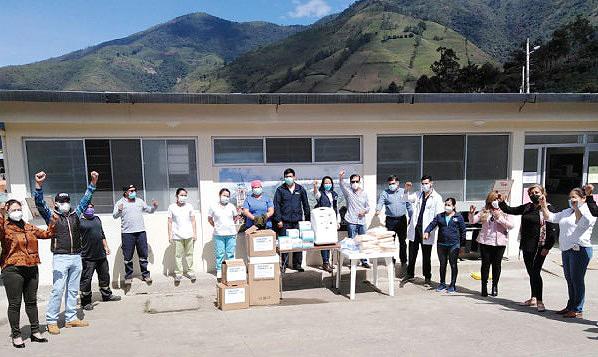 CREO Pallatanga agradece a Guillermo Lasso y #SalvarVidasEC por nueva donación de insumos médicos