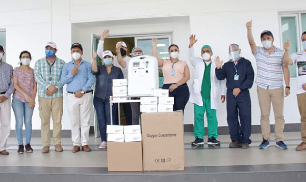 CREO Piñas agradece a Guillermo Lasso y #SalvarVidasEC segunda entrega de equipos médicos
