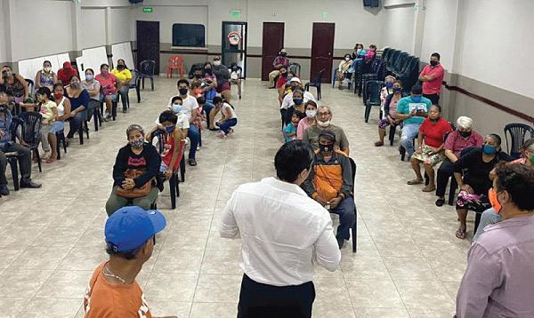Candidatos del distrito 1 llevan las propuestas de Lasso a la parroquia Febres Cordero