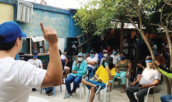 El mensaje del cambio llegó a la coperativa Causa Proletaria en Guayaquil