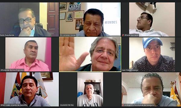 Los alcaldes de la provincia de Loja se suman al plan de Guillermo Lasso
