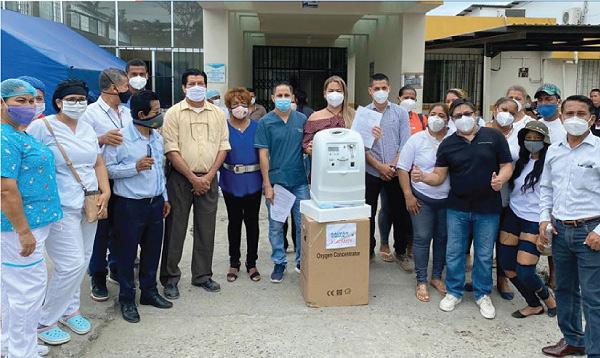 CREO Atacames agradece a Guillermo Lasso y #SalvarVidasEC donación de insumos médicos