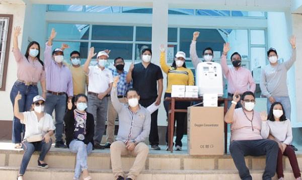 En Chilla CREO agradece a Guillermo Lasso y #SalvarVidasEC por la donación de monitores cardíacos