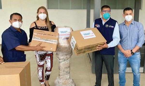CREO Esmeraldas agradecea a Guillermo Lasso y #SalvarVidasEC por nueva donación