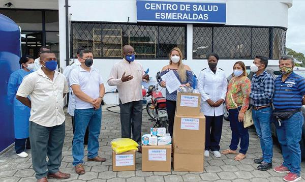 SalvarVidasEC llega con ayuda a centros de salud de la Policía de Esmeraldas